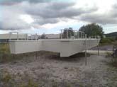 hausboot 17,5 x 4m laden im werft anstrich